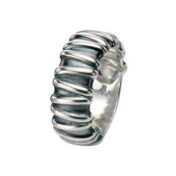 Oxidised Twine Ring