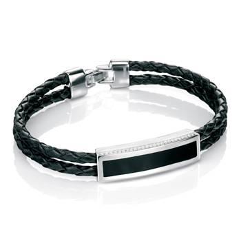 Milgrain Agate Leather Bracelet
