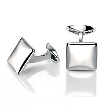 Puffed Square Cufflinks