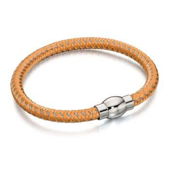 Orange and Grey Nylon Bracelet