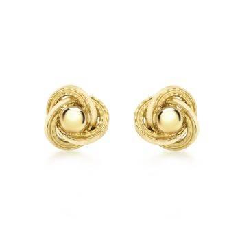 Gold Spanish Knot Stud Earrings Large