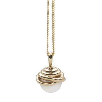 Woven Pearl Pendant (9ct Gold)