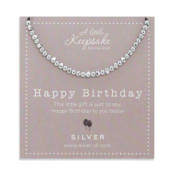 Silver Birthday Bracelet