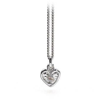 Mini Heart and Pearl Pendant