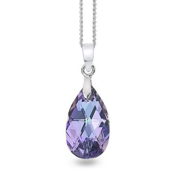 Swarovski Lilac/Blue Pear Drop Pendant