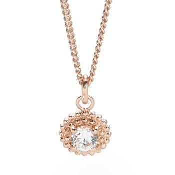 Rio Sunrise Pendant 45cm Rose Gold Curb Chain