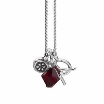 January Initial Charm Pendant