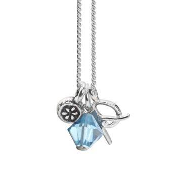 March Initial Charm Pendant
