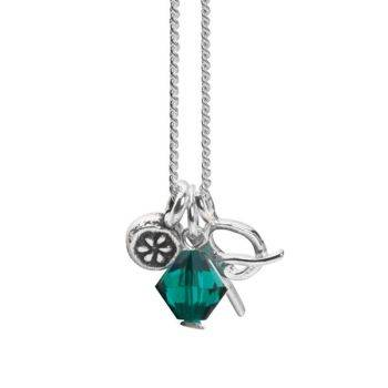 May Initial Charm Pendant