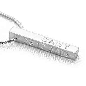 Personalised Bar Pendant (Brushed)