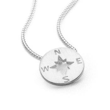 Silver Compass Pendant