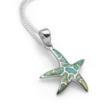 Opal Star Pendant (Green)