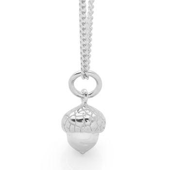Silver Acorn Pendant