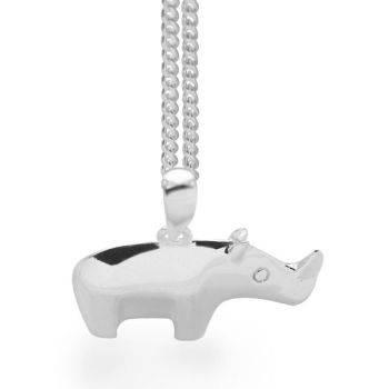 Silver Rhino Pendant