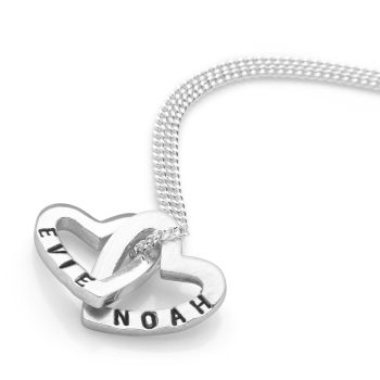 Personalised Heart to Heart Pendant