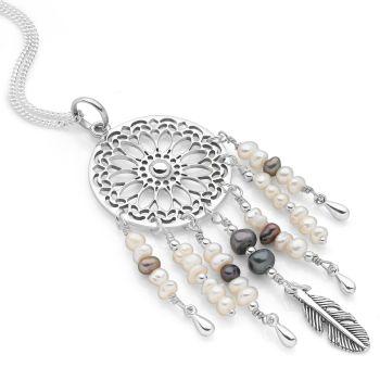 Dreamcatcher Pendant (Pearl)
