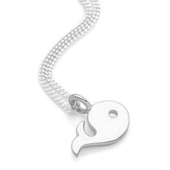 Silver Whale Pendant