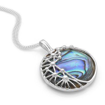 Pearl Web Pendant (Abalone)