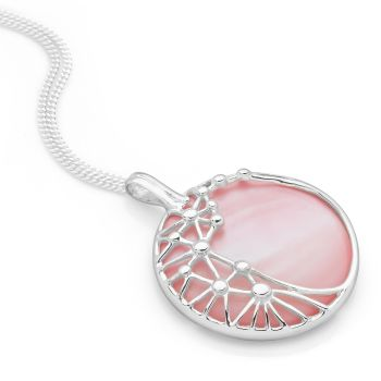 Pearl Web Pendant (Pink)