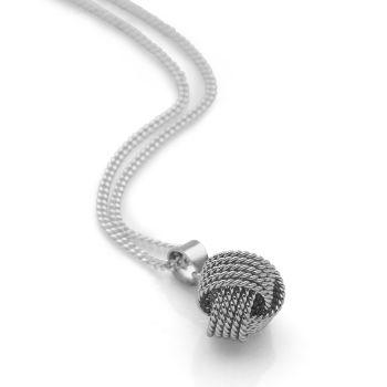 Silver Twine Pendant