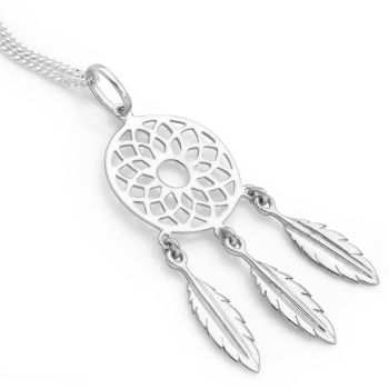 Lotus Dreamcatcher Pendant