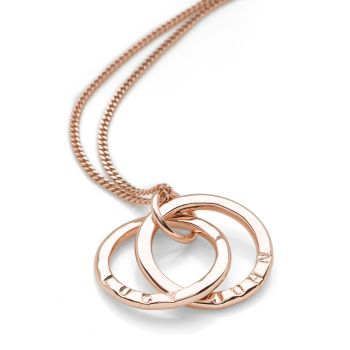 Personalised Intertwined Pendant (Rose Gold Plate)