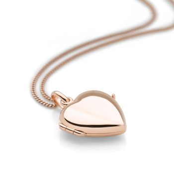 Forget-Me-Not Locket (Rose Gold Plate)