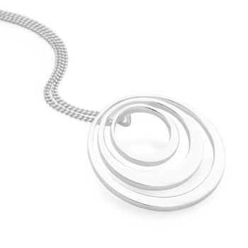 Silver Ripples Pendant