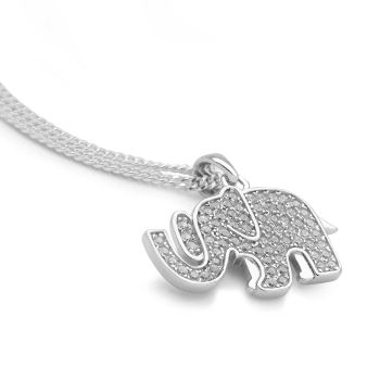 Sparkling Elephant Pendant