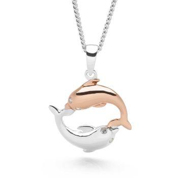 Infinate Dolphin Pendant