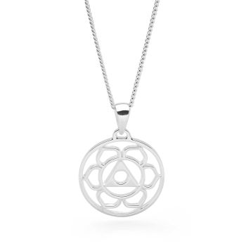 Silver Throat Chakra Pendant