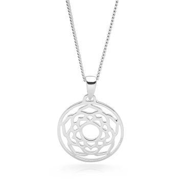 Silver Crown Chakra Pendant