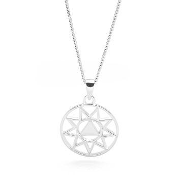 Silver Solar Plexus Chakra Pendant