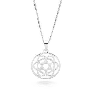 Silver Heart Chakra Pendant