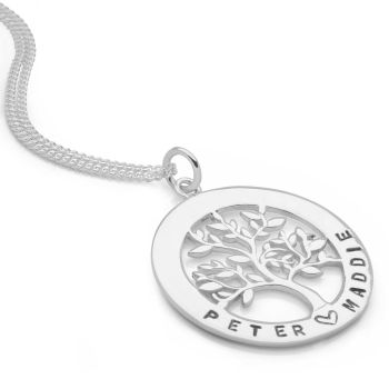 Personalised Tree of Life Pendant