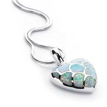 Opal Heart Pendant