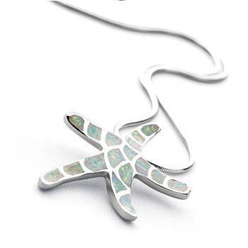 Opal Starfish Pendant