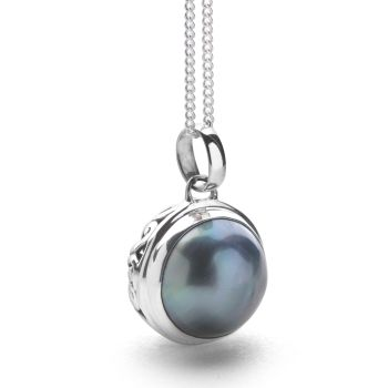 Moon in Gemini Pendant (Grey)
