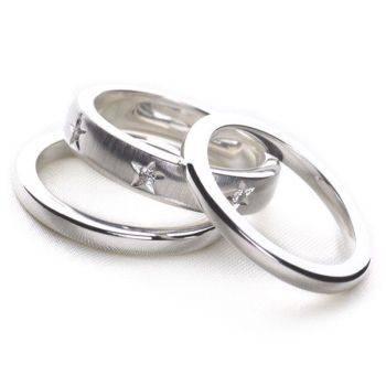 Rock Stack Ring Set of 3