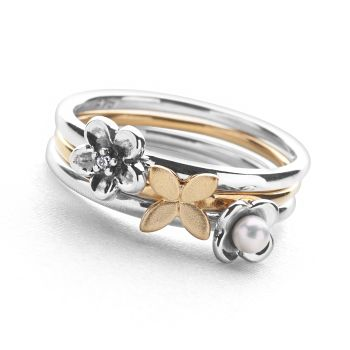 Flora Stack Rings (Set of 3)