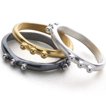 Babylon Stack Rings (Set of 3)