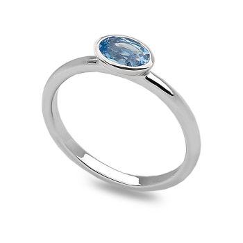 Blue Oval Stack Ring