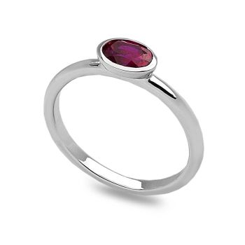Pink Oval Stack Ring