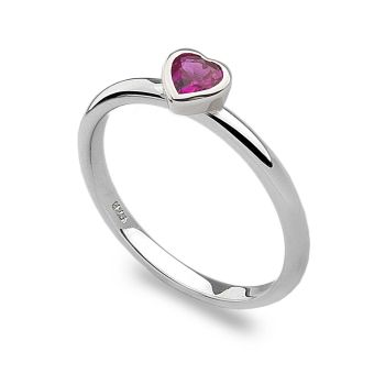 Pink Heart Stack Ring