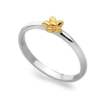 Golden Daisy Stack Ring