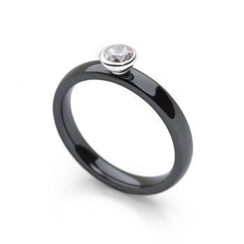 Mono Ring Black (CZ)