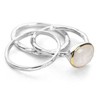 Moonlight Stack Rings (Set of 3)