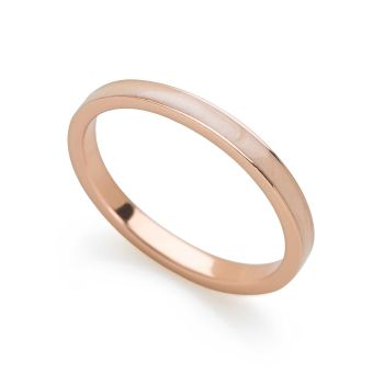 Rose Gold Enamel Stack Ring