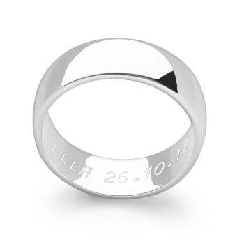 Hidden Message Ring (D-Shaped)