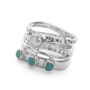 Turquoise Akuti Ring